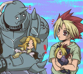 +YGO and FMA+ Cat Dogs02 by whitedragoons