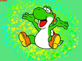 Yoshi's Hooray Pose by GameKing427