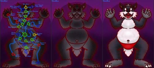 Evil Fox Prince Body Map by GameKing427