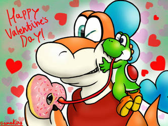 Happy Valentine's Day, Cous! by GameKing427