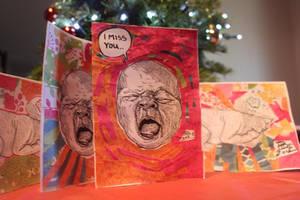 Cry Baby Greeting Cards by Rebate-BrainVomit
