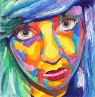 Portrait 5: Megan again (for contest) by Digital-Goth