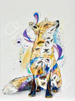 Ethereal Red Fox by Digital-Goth