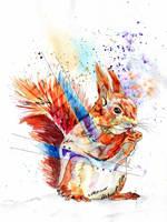 Red(ish) Squirrel by Digital-Goth