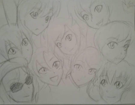 Quick sketch of the rwby girls by VermillionUmbra