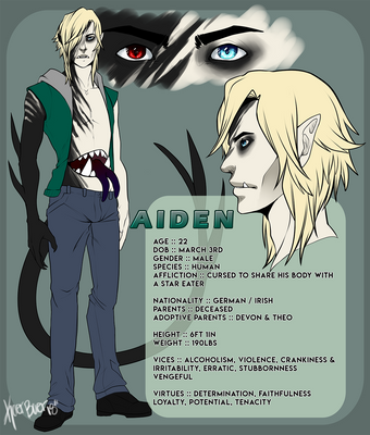 [ OC ] Aiden Reference Sheet by Kaer-Baer