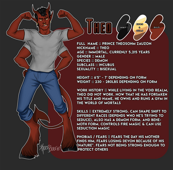 [ OC ] Theo Reference Sheet by Kaer-Baer