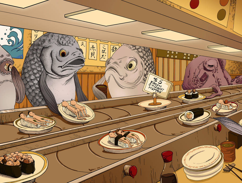 sushi shop by kiddhe