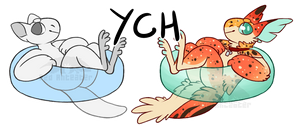 pool floaty YCH - OPEN by red-anteater