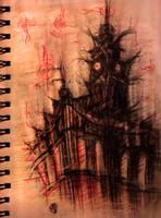 Edinburgh sketch by LilithAbsinthe