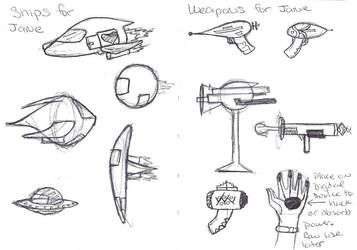 Weapon + Ship concepts by In-saneJoker
