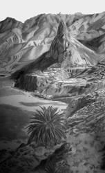 Volcanic Landscape by sMokaForger