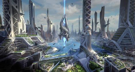 UE4 sci-fi cityB by ArtofChen