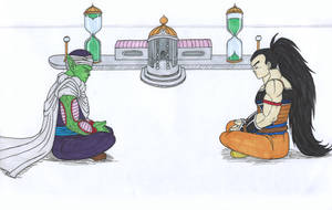 DB - Raditz and Piccolo - Hyperbolic Time Chamber by IsabellaFaleno