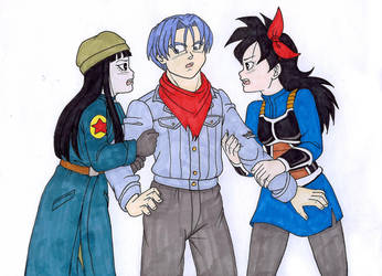 Mirai Ranch and Trunks and Mai by IsabellaFaleno
