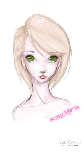 sakura: spring eyes by nekobomb