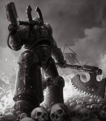 Kharn the Betrayer by Bra1nEater