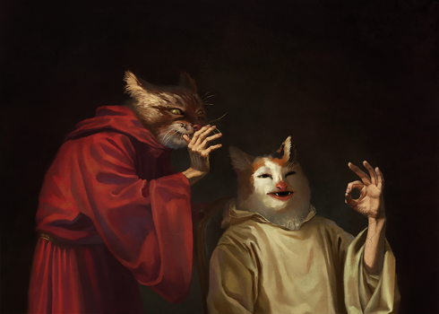 Cat Meme Renaissance by Bra1nEater