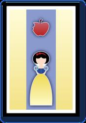 Minimalist Disney Princess Snow White by velvet-child