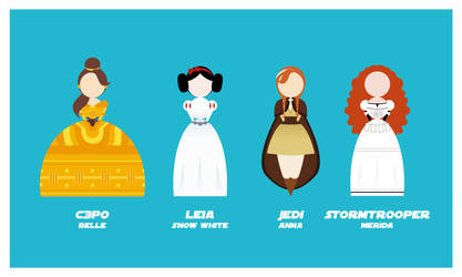 Star Wars Princesses by velvet-child