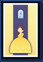 Minimalist Disney Princess Belle by velvet-child