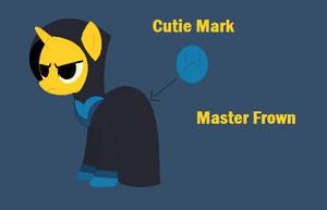 UNKYXMLP - Master Frown as a pony by worldofcaitlyn