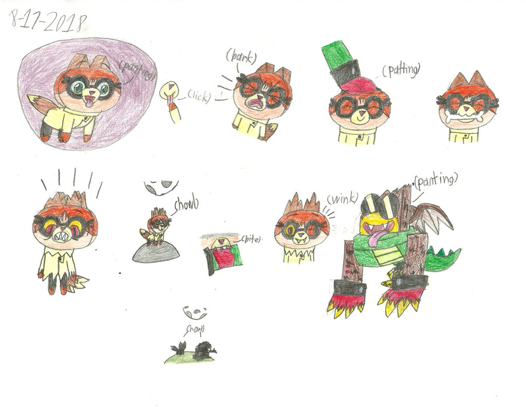 UNKY - Hawkofox Were-Doodles by worldofcaitlyn