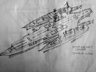 Super Aircraft Carrier Imperivm Class by 7H3D3M0NL0RD
