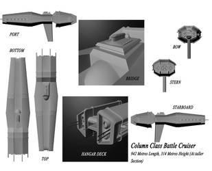Column Class Battle Cruiser by Furiousangel113