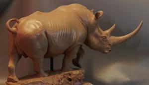 1/10 White Rhino done on one side! by JordanAbernethy