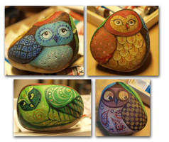 owl family by jennomat