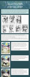 tutorial: illustration - step by step - by jennomat