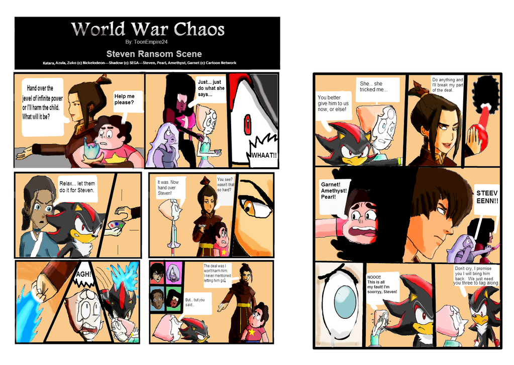 Ww Chaos Fanfic Comic Strip Scene Steven Ransom By Toonempire24 On