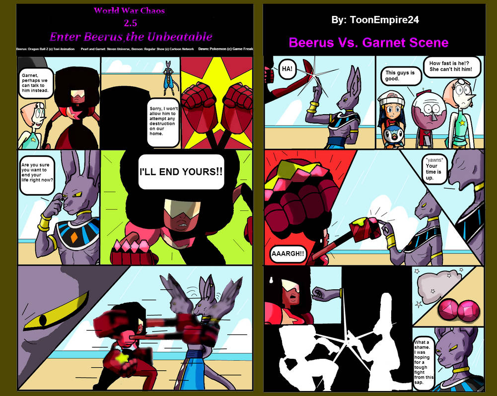 World War Chaos 25 Enter Beerus Comic Scene By Toonempire24 On
