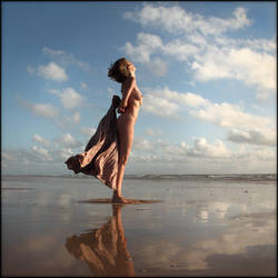 A. (nu sur la plage) by Renoux