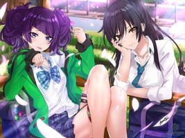 Mamimi and Sakuya by narukaminez