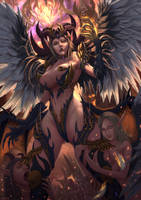 Lilith Unbound, Angel of the first Sin. by ArtofWeiHan