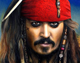 Drawing Captain Jack Sparrow by Heatherrooney