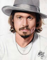 Drawing Johnny Depp by Heatherrooney