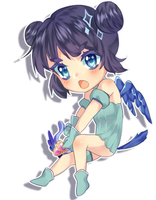Chibi Mint by Chocolate-Domino