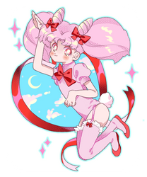 Moon Rabbit by Chocolate-Domino