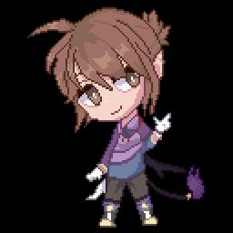 Chibi-Mina (Pixelart Practice) by Crimzan4