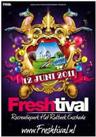 Freshtival 2011 poster by Fla4flav