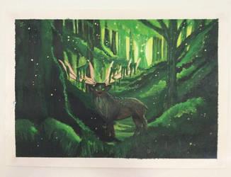 'Mystical Deer' by ChantelleStankovich