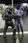 Cortana and her Spartan by Youplahey