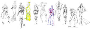 Fashion Sketches by Callista1981