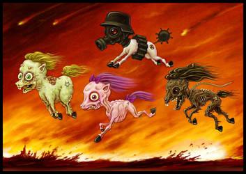 Four Little Ponies by jflaxman