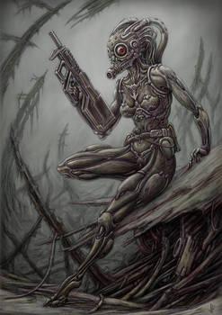 Transhuman Dawn by jflaxman