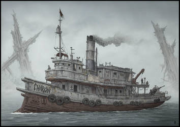 Last Voyage of the Charon by jflaxman