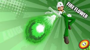 Fire Flower Luigi by Fauss